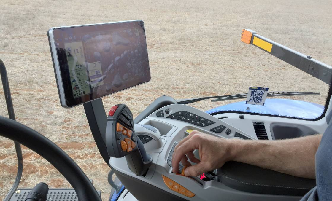 The IntelliView 12 monitor delivers real-time remote insights when out in the paddock.
