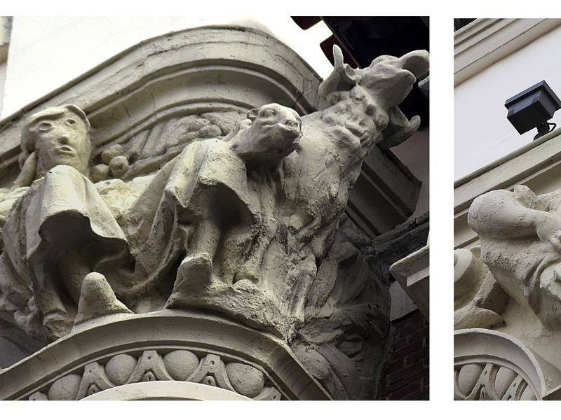 A Spanish sculpture in Palencia before (right) and after restoration (left) has drawn ridicule.